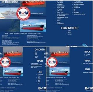 Seaman jobs For Cruise, Container, FPSO, LPG, BULK, VLGC, LPG Ships