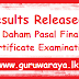 Results Released -  Daham Pasal Final Certificate Examination - 2017(2018)