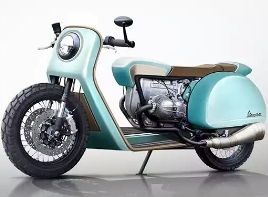 Modifikasi Motor Vespa modified