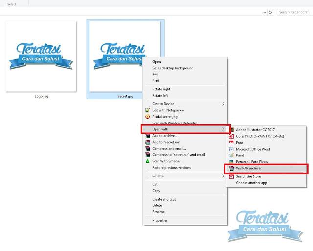 Cara Mengakses atau Membuka File Yang Telah Disembunyikan Dalam File Gambar - Cara untuk mengakses atau membuka file yang telah disembunyikan ke dalam file gambar dengan menggunakan teknik steganografi - Teratasi.com