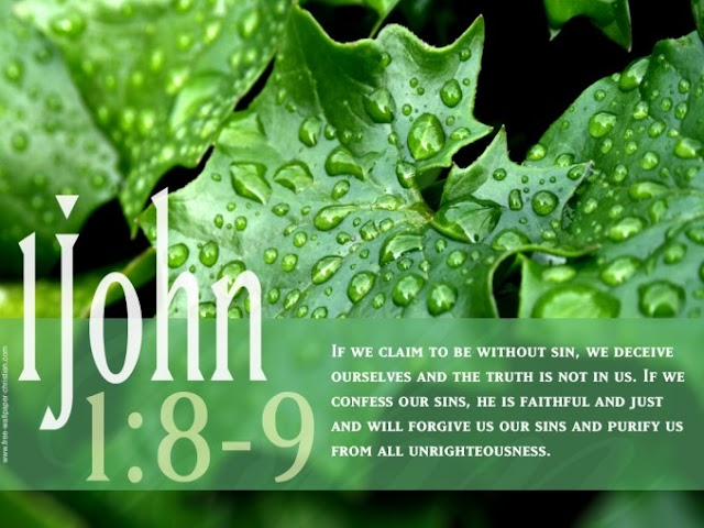 1 John 1:8-9 Desktop Bible Verse Wallpaper