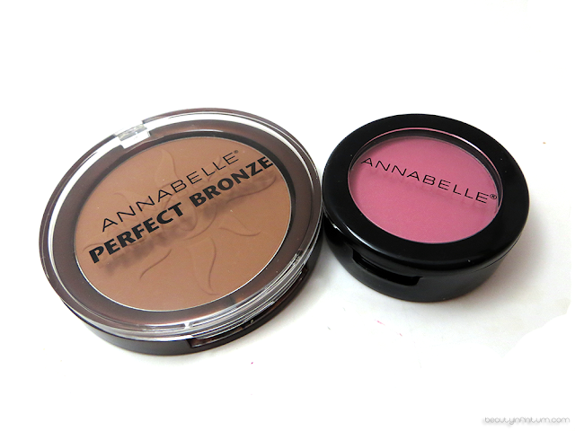 annabelle perfect bronze in sun breeze and blushon in rosebud