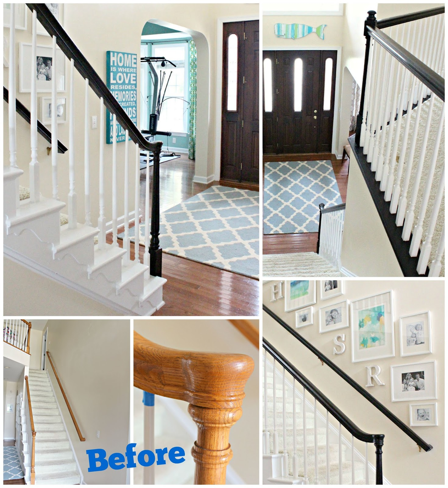 Carolina On My Mind: How To Stain Oak Banisters