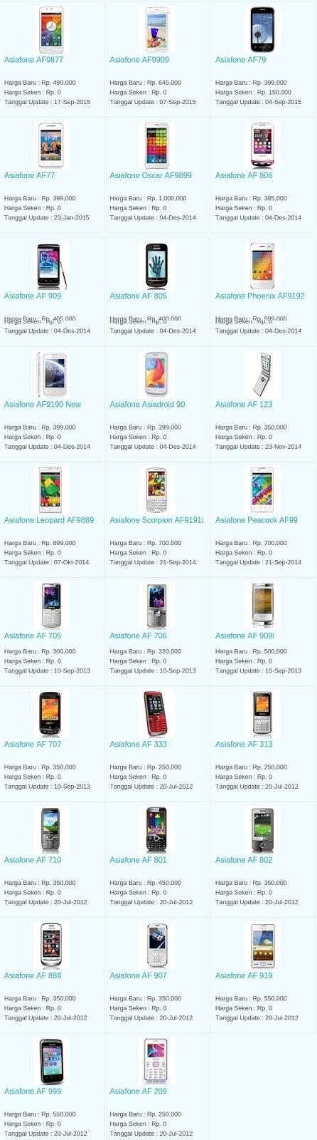 Daftar Harga Hp Terbaru Asiafone Juni 2016