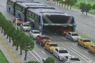 اختراع حافلة صينية تخفف من الزحمة المرورية