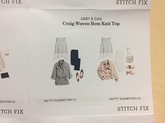 Stitch Fix Abby & Gail Craig Woven Hem Knit Top