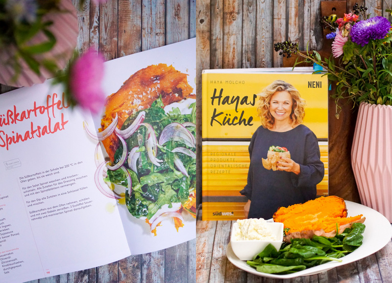 Hayas Küche Südwestverlag, NENI, Ofen Süßkartoffeln mit Spinatsalat