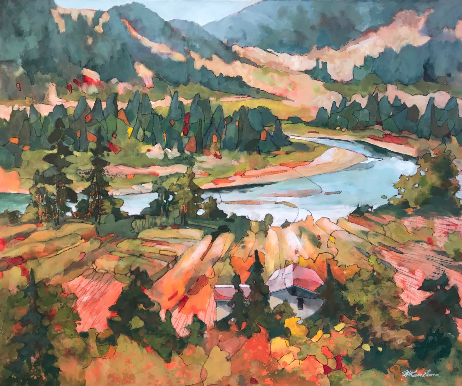 River Runs Through It 34x40""