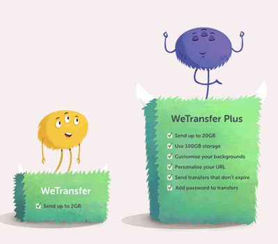 Come trasferire un file con WeTransfer