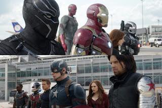 Time Capitão America vs Time Homem de Ferro guerra civil luta marvel