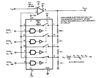 programmable gain amplifier circuit diagram electronic