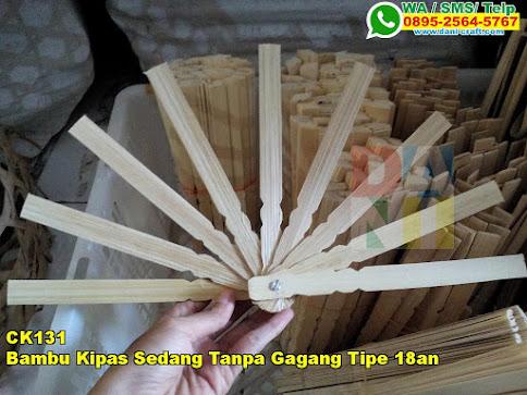 Grosir Bambu Kipas Sedang Tanpa Gagang Tipe 18an