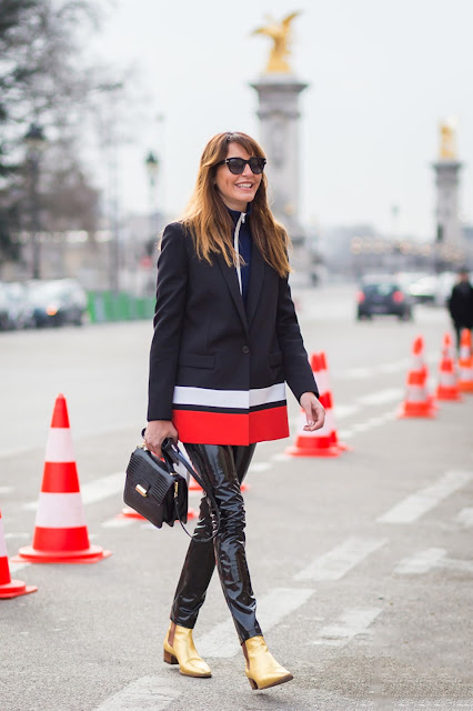 patent leather pants street style