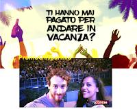 Logo #Illavoropiùbellodelmondo: l'unico lavoro che ti paga per andare in vacanza! Candidati anche tu.