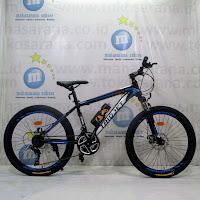Sepeda Gunung Remaja Triojet Iconic 2 Hi-Ten 3x7Sp Cakram Mekanis 24 Inci