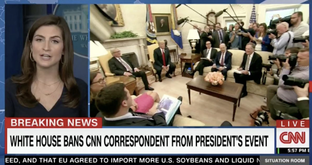 Fox News President Declares 'Strong Solidarity with CNN' After WH Bars Kaitlan Collins from Event