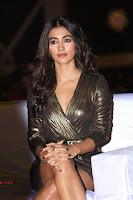 Pooja Hegde looks glamarous in deep neck sleevless short tight golden gown at Duvvada Jagannadham thank you meet function 083.JPG