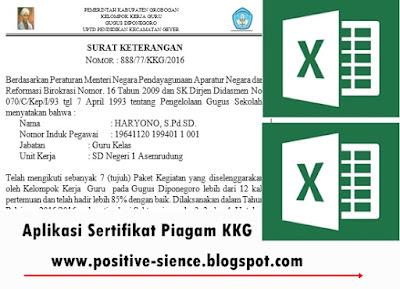 Aplikasi Sertifikat Piagam KKG