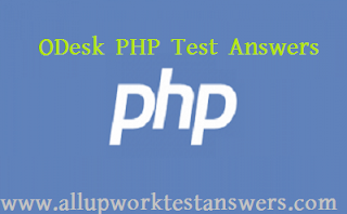 oDesk PHP Test Answers