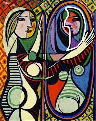 Gadis di Depan Cermin karya Pablo Picasso