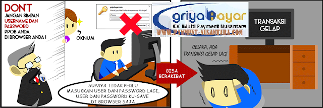 Jangan simpan Username dan Password PPOB Anda di browser Anda