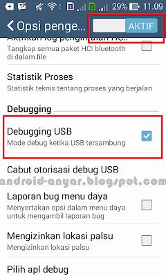 Cara Memunculkan dan Mengaktifkan Debugging USB