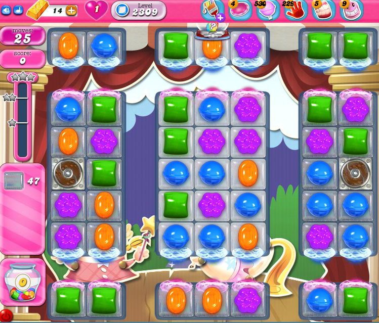 Candy Crush Saga level 2309