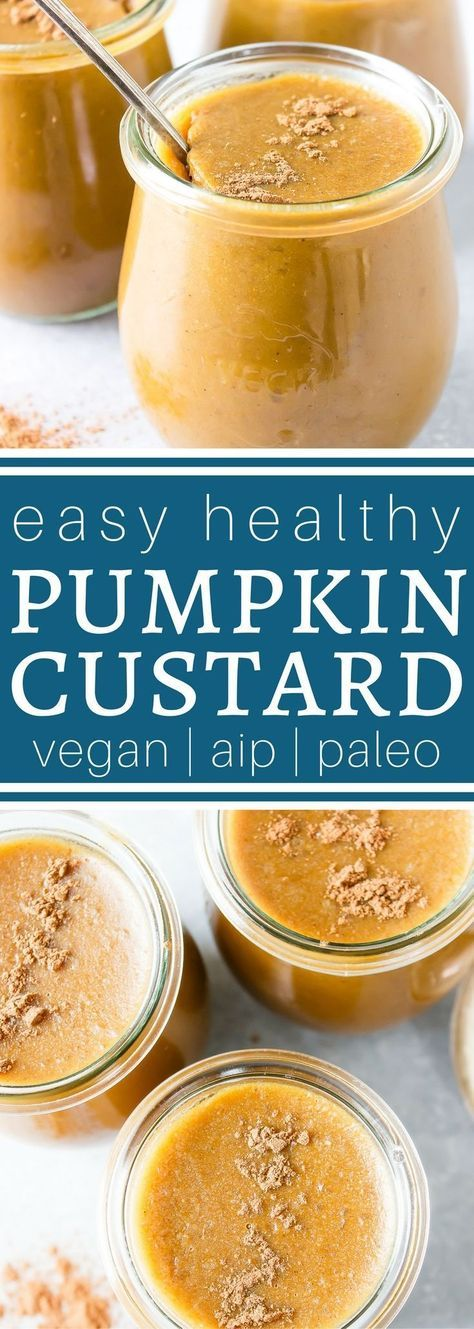 Easy Paleo Pumpkin Custard - low carb, dairy free option, AIP