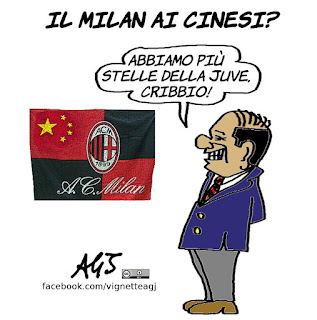 Milan, berlusconi, cinesi, calcio, sport, umorismo, vignetta