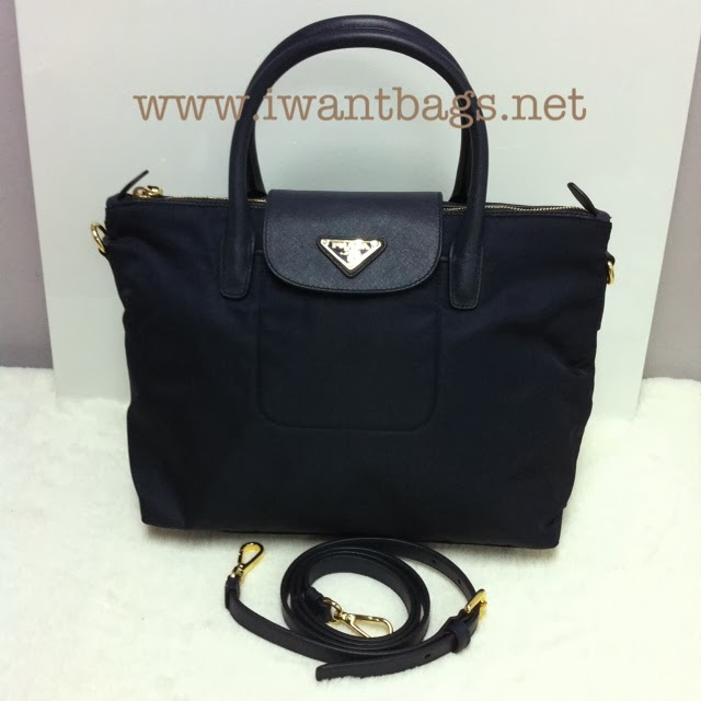 a0c1c10f7215 I Want Bags backup: Prada Tessuto Saffiano Nylon Top Handle 2 Way ...