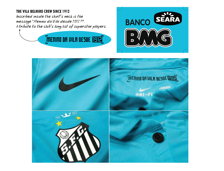 90cea5913 The turquoise blue used for the kits is intended to celebrate the colonial  heritage of the city of Santos