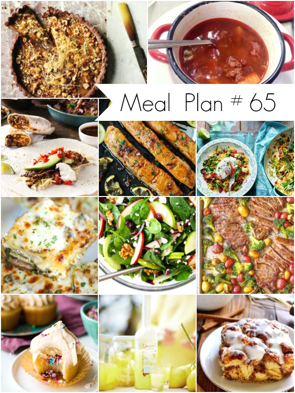 A round up of delicious recipes for your weekly meal plan