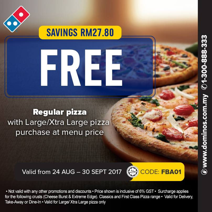 30 coupon dominos