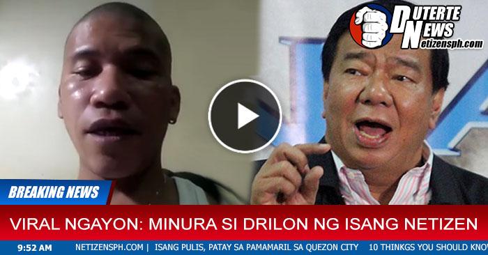 Binato ng Pinaka Matinding Mura si Drilon Sa Isang Netizen