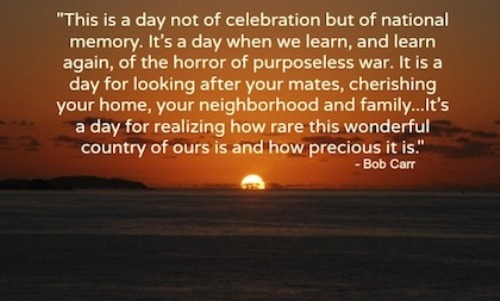 Image result for quotes about ANZAC day