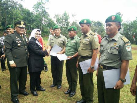Upacara HUT TNI ke 71 Tahun 2016