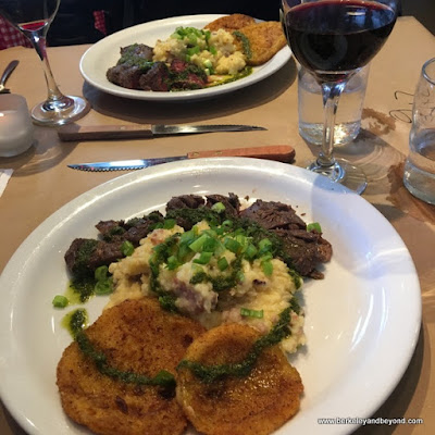 butcher's steak for monthly dinner at Homemade Cafe in Berkeley, California
