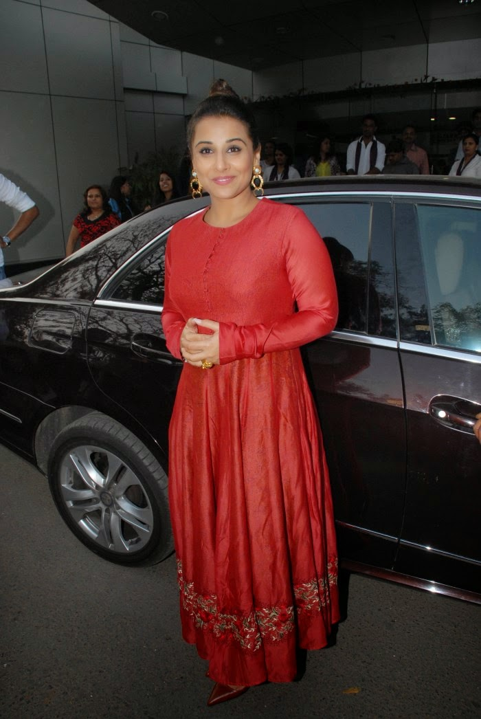 Actress Vidya Balan Latest Cute Hot Red Dress Spicy Photos Gallery At I Pray at WWI Launch
