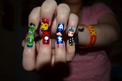 Uñas decoradas estilo Avengers