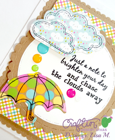Chase Away The Clouds handmade greeting card using Craftin Desert Divas The Sky Is The Limit Stamp And Die Cuts