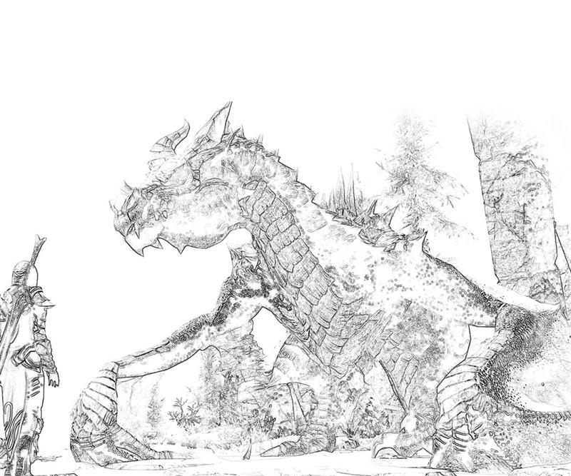 Elder Scrolls Skyrim V Sketch