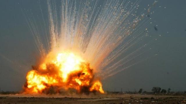 Ilustrasi. Gambar ledakan pesawat di Karanganyar.