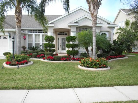 47 cheap landscaping ideas for front yard a blog on garden for Front lawn garden design