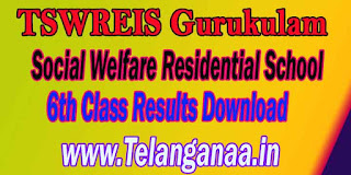 TSWREIS Gurukulam Social Welfare Residential School 6th Class Results Download