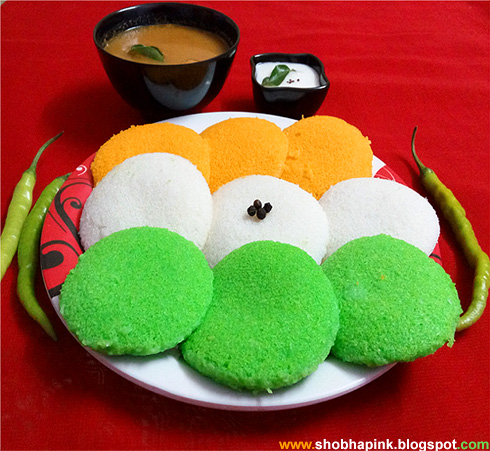 Tri Color Healthy Idli
