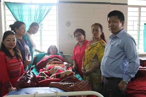 State Women Commission Sikkim met Bijanbari Case victim Kala Subba actually from Nepal