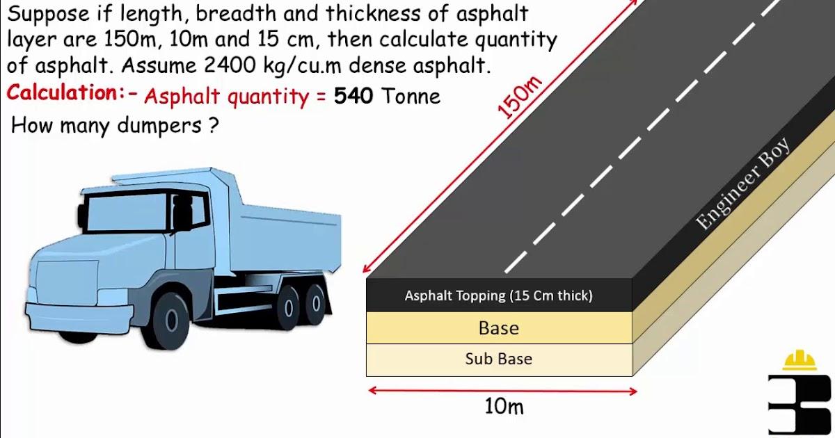 Asphalt quantity formula, how much asphalt should we bring