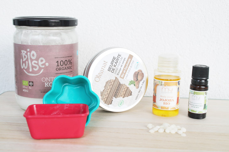 Barre de massage maison ingrédients