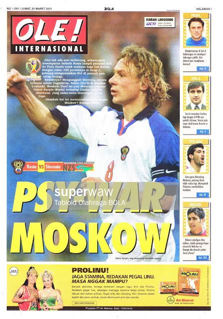 RUSIA VS SLOVENIA PSY-WAR MOSKOW