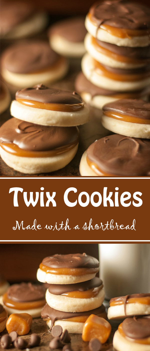 Super Decadent Twix Cookies Made With A Buttery Flaky